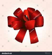 big present bow big gift bow on pink stock vector 454269778