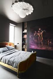 best 25 black bedroom design ideas on pinterest monochrome in this renovated brooklyn tenement black walls a large artwork and a louis