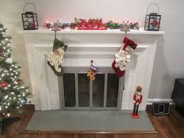 Painted Fireplaces Retro Ranch Reno Freshened Up Fireplace