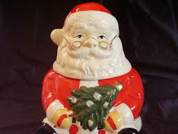 gibson santa cookie jar christmas tree