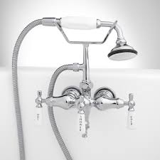 tub mounted faucets rim mounted tub faucets signature hardware woodrow wall mount tub faucet and hand shower