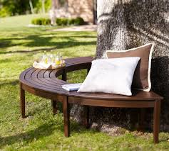 curved outdoor bench with pillow u2014 the homy design curved
