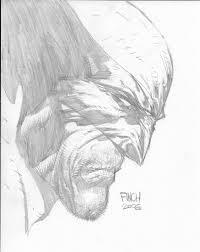 wolverine portrait by david finch in kenn y u0027s convention sketches
