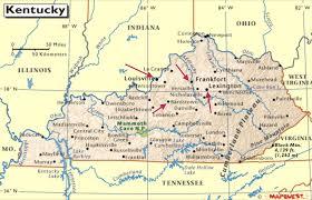 kentucky map bardstown kentucky frankfort horses bourbon apple