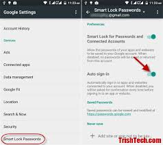 smart lock android enable or disable smartlock auto sign in feature in android lollipop