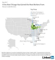 Chicago Illinois On Map by Linkedin Workforce Report Chicago May 2017 Linkedin