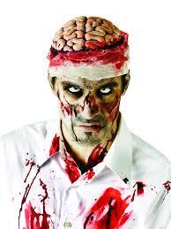 amazon com fun world bloody brain headpiece one size toys u0026 games