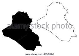 iraq map vector iraq map vector illustration scribble sketch irak stock vector