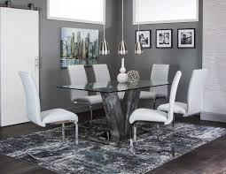 rectangle glass dining room tables g5776 veneto dining room set rectangle glass dining table 6 chairs