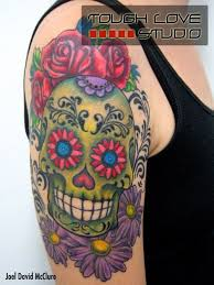 33 besten floral and skull tattoo designs bilder auf pinterest