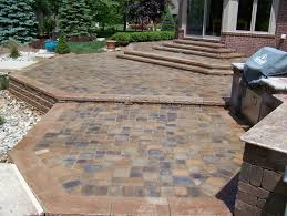 Patio Brick Pavers Brick Paver Porch Patio And Stairs