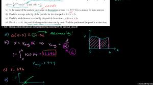 2011 calculus ab free response 1 parts b c d video khan academy