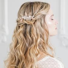 wedding hair combs new gold and blush floral wedding hair comb senna britten