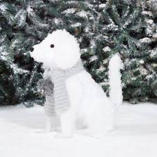 holiday time christmas decor 24 fluffy dog light sculpture ebay