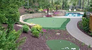 Putting Green In Backyard by Golf Intelliturf