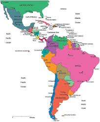 map usa barbados south and central america map quiz best 25 america political