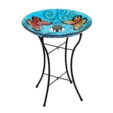 wilson and fisher solar lighted bird bath wilson fisher solar stained glass bird bath at big lots 21 99