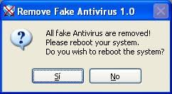 Remove Fake Antivirus 1.91
