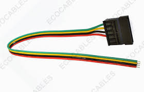 automobile engine hook up cable wire harness with sata connector