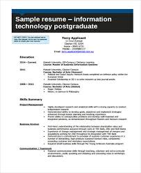 Monash Resume Sample by 8 Information Technology Resumes Free Sample Example Format