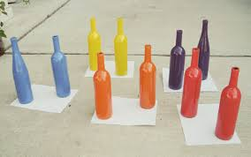 Diy Wine Bottle Vases Colorful Pop Art Wine Bottle Vases