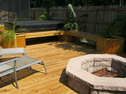 wood deck with fire pit fire pit ideas