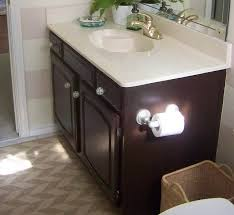 Painted Vanities Bathrooms Painting Builder Grade Bathroom Cabinets Behr Paint And Primer Mix