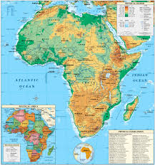 Central America Physical Map by Africa Physical Map Full Size
