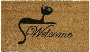 Rubber Cal Wipe Your Paws Cat Doormats Golly Gee Gardening