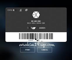 membuat id card suju tutorial cara mendaftar di official website exo l crystal clear