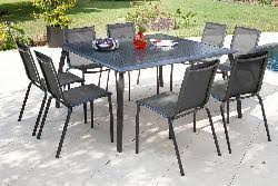 pro table de jardin carré azuro 140 royal grey loi