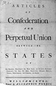 the articles of confederation primary documents of american