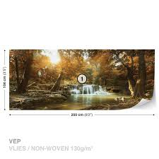 wall mural photo wallpaper xxl waterfall forest nature sun picture 7 of 9