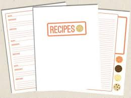 free printable recipe pages sweet free printable recipe pages allfreepapercrafts com