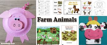 farm animal preschool activities and printables kidssoup