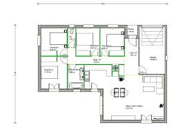 plan maison plain pied en l 4 chambres plan maison en l 4 chambres plan 4 1 a plan maison plain pied 4