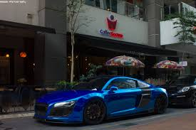 Audi R8 Blue - chrome blue audi r8 4 2 fsi quattro by megastheblaziken on deviantart