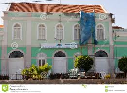 national archive of cape verde colonial old building editorial