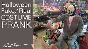fake real halloween costume scare prank youtube