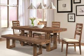 furniture perfect rustic dining room table with bench 71 in ikea