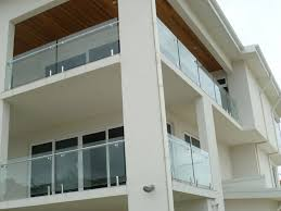 stainless steel baluster tempered glass balcony railing designs