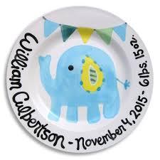 keepsake plates pink and blue elephants keepsake plates