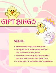 baby shower gift bingo shower gift bingo