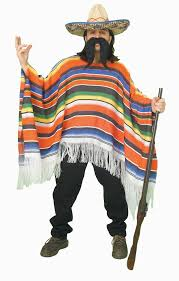 party america halloween mexican serape poncho costume mexicans halloween costumes