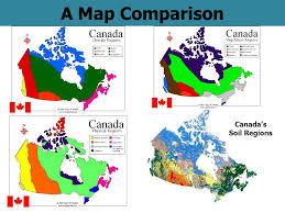regions of canada map a map comparison canada s soil regions the ecozones map ppt