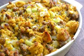 pumpkin cornbread with country sausage and the