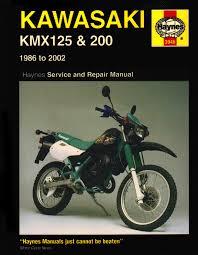 kawasaki kmx 125 and 200 service and repair manual 1986 2002