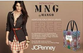 mng by mango jcpenney get a free mng reusable tote with any mng by mango purchase