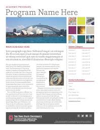 brochure templates word example masir