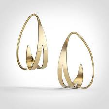 real gold earrings die besten 25 real gold hoop earrings ideen auf